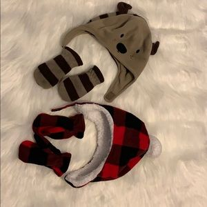 6-18 months toddlers beanies and mitten